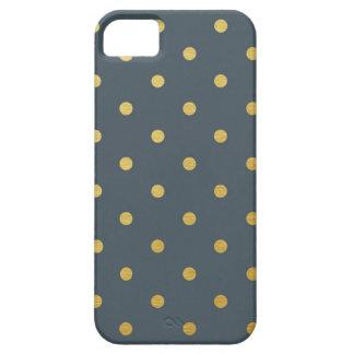 Guld omkullkastar modern polka dots kritiserar iPhone 5 cover
