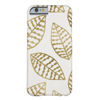 Guld omkullkastar och lagar mat med grädde löv barely there iPhone 6 fodral