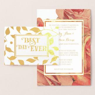 Guld omkullkastar rosa folierat kort