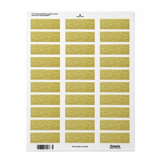 Guld omkullkastar texturerad beställnings- returadress etikett