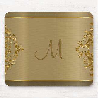 Guld- Orante för Monogram design Musmatta