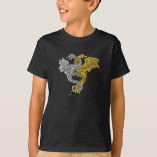 Guld- örn- och silverdrake t shirts