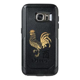 Guld- Otterbox Samsung för nytt år för tupp fodral