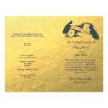 Guld- påfågelbröllopsprogram personliga flygblad