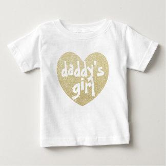 Guld- papporflickaGlitter-Tryck hjärta T Shirts