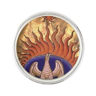 Guld- Phoenix som stigning från askaen Kavajnål