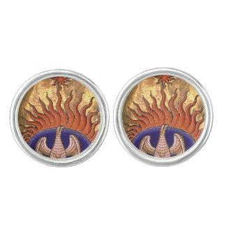 Guld- Phoenix som stigning från askaen Manschettknappar