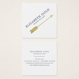 Guld- pilvisitkort fyrkantigt visitkort