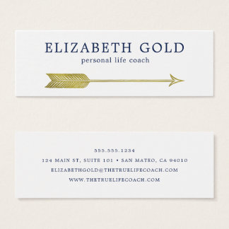 Guld- pilvisitkort litet visitkort