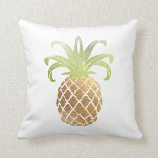 Guld- Pineapples/DIY bakgrund för PixDezines Faux Kudde