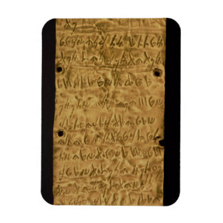 Guld pläterar med Phoenicianinskrift, från Santa Magnet