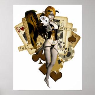 Guld- pokerflicka 2 poster