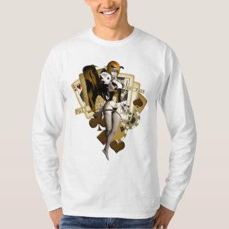 Guld- pokerflicka 2 t-shirts