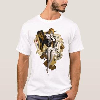 Guld- pokerflicka 2 tröjor