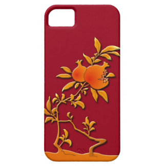 Guld- pomegranate iPhone 5 skydd
