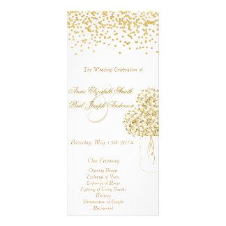Guld- program för vintage bröllop för
