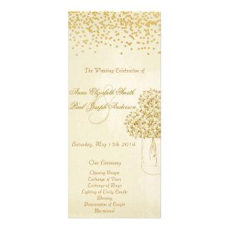 Guld- program II för vintage bröllop för