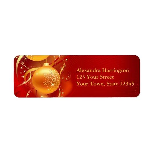 Guld- prydnadgnistra, helgdag returadress etikett
