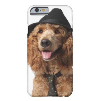 Guld- pudelhund som ha på sig hatten och tien barely there iPhone 6 skal