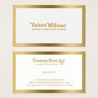 Guld- ram för enkel vitWhit Visitkort