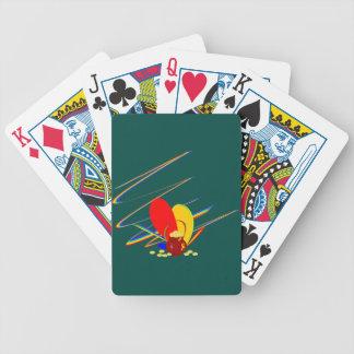 Guld- regnbåge för pengarang-magi kortlek