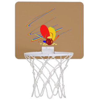 Guld- regnbåge för pengarang-magi Mini-Basketkorg