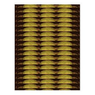 GULD- remsamönster: Från VINTAGEförebild avbilda Vykort