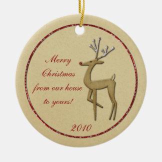 Guld- ren från vårt hus som Din ska smyckas Julgransdekoration