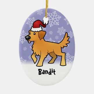 Guld- Retriever för jul (tillfoga husdjur Julgransprydnad Keramik