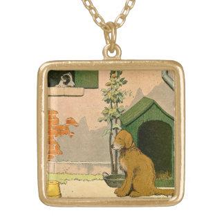 Guld- retriever- och jackRussell Terrier Guldpläterat Halsband