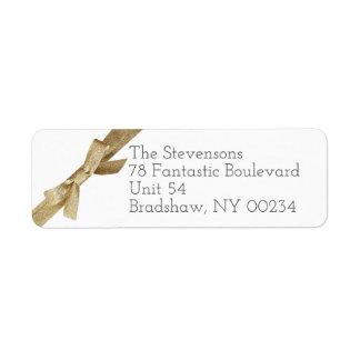 Guld- returadress för familj för returadress etikett