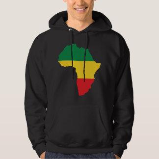 Guld- & röd afrikaflagga för grönt, tröja med luva