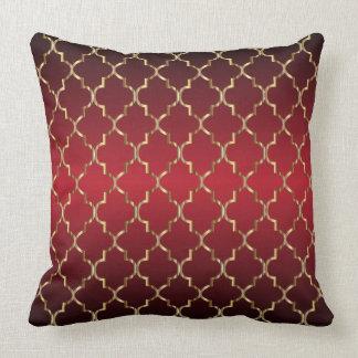 Guld- röd blandning för Quatrefoil mönster på Kudde