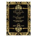 Guld- romansk 20-talart déco som gifta sig inbjuda anpassningsbara inbjudningskort