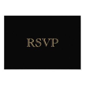 Guld- romansk art décoOSA kort 8,9 X 12,7 Cm Inbjudningskort