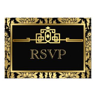Guld- romansk art décoOSA kort V2 8,9 X 12,7 Cm Inbjudningskort