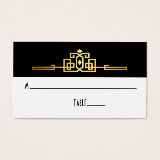 Guld- romanskt art décoställekort