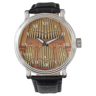 Guld- rör med roman tal armbandsur