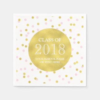 Guld- rosa konfettiar klassificerar av studenten papper servetter