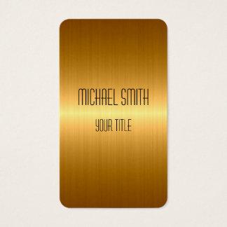 Guld- rostfritt stålmetall visitkort