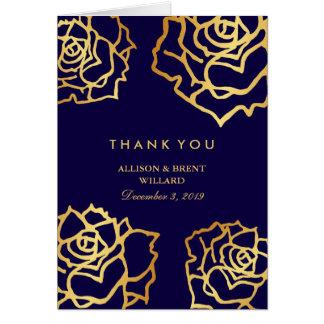 Guld- rotackkort - blått OBS kort