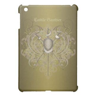 Guld- rulla för fäktningsvärd iPad mini skydd