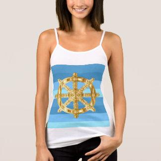 Guld- rulla marinstil tshirts