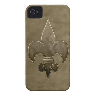 Guld- sammet Saints Fleur De Lis Case-Mate iPhone 4 Skal