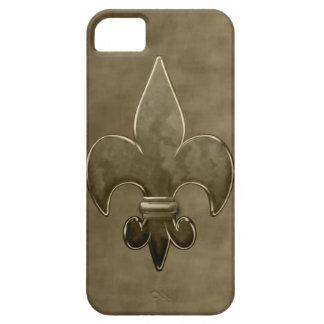 Guld- sammet Saints Fleur De Lis iPhone 5 Cover