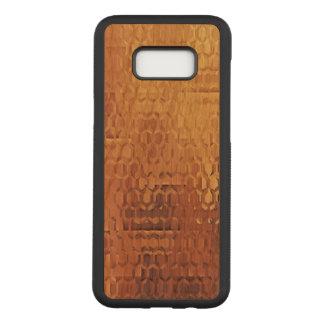 Guld- Samsung galax S8+ Slankt körsbärsrött Wood Carved Samsung Galaxy S8+ Skal