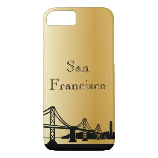 Guld- San Francisco Silhouettetelefon & Ipad