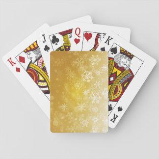 Guld- säsongsbetonad helgdag/julSnowflake Spel Kort