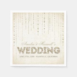 Guld- servetter för glitterLookbröllop