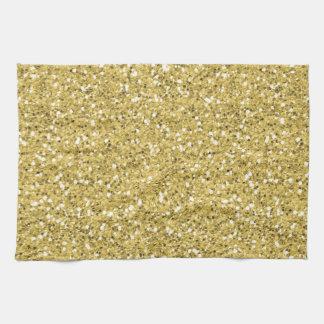 Guld- Shimmerglitter Kökshandduk